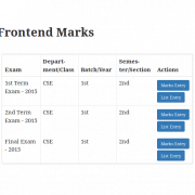 Easy Student Result : Frontend Marks – Assigned Result List